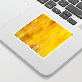 Autumn colors reflecting on the lake surface #decor #buyart #society6 Sticker