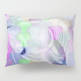 Patchwork Style Horse Rainbow Pillow Sham