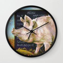 The Vegan Wall Clock