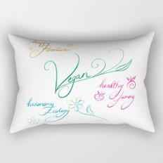 Vegan & happy lifestyle Rectangular Pillow