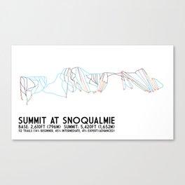 The Summit at Snoqualmie, WA - Minimalist Trail Art Canvas Print