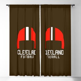 Cleveland Ohio Football Blackout Curtain