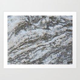 TEXTURES -- Riverstone #1 Art Print