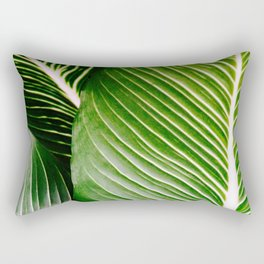 Big Leaves - Tropical Nature Photography Rectangular Pillow