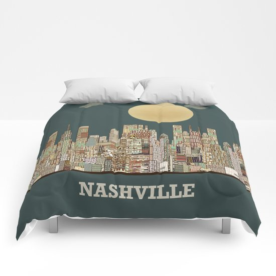 music city tennessee  Comforters