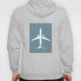 737 Passenger Jet Airliner Aircraft - Slate Hoody