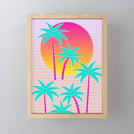Hello Miami Sunset Framed Mini Art Print