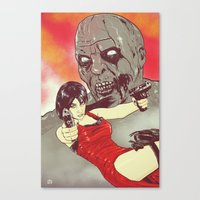 resident evil Canvas Prints featuring Evil Resident by Giuseppe Cristiano
