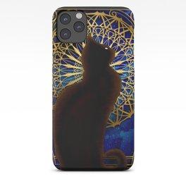 Celestial Sable - Black Cat And Night Magic Mandala iPhone Case