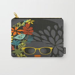 Afro Diva : Sophisticated Lady Gray Carry-All Pouch