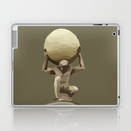 Man with Big Ball Illustration brown Laptop & iPad Skin