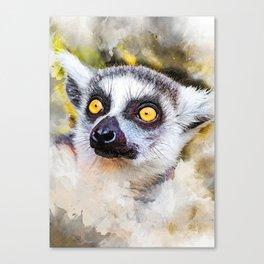 Lemur #lemur #animals Canvas Print