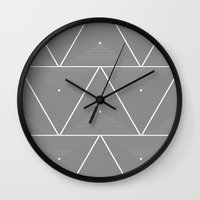 origami Wall Clocks featuring Origami by Leandro Pita