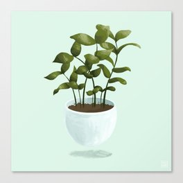 Floating Potted Plant Canvas Print