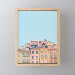 Warsaw Pastels - Poland Architecture, Travel Photography Framed Mini Art Print