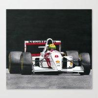 senna Canvas Prints featuring Senna by Olleandro