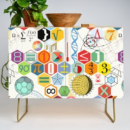 Math in color (white Background) Credenza