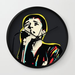 Ian Curtis Pop Art Quote / Joy Division Wall Clock