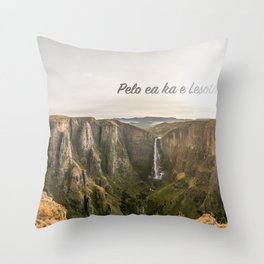 The Place of Smoke Throw Pillow