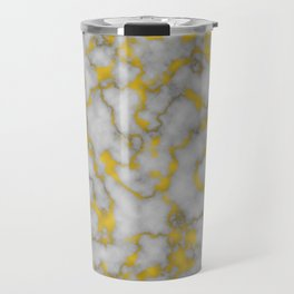Marble and Gold Luxury Foil Travel Mug