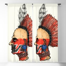 Native Warrior Blackout Curtain