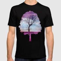 ATMOSPHERIC TREE | Pink Morning Mens Fitted Tee Black MEDIUM