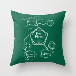 Fines Herbes Molecular Diagram Throw Pillow