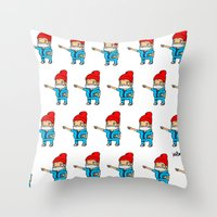 zissou Throw Pillows featuring Zissou by kaylieghkartoons