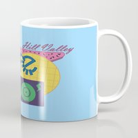 80s Mugs featuring Cafe 80s by Loku