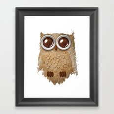Owl Collage #6 Framed Art Print