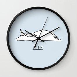 Meh Unicorn Wall Clock