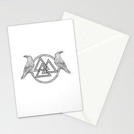 Hugin and Munin Norse Mythology Viking  Stationery Cards