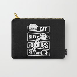 Eat Sleep Motocross Repeat - Motorcycle Motorsport Carry-All Pouch