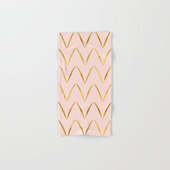 Pink Gold Foil 05 Hand & Bath Towel