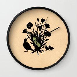 California - State Papercut Print Wall Clock