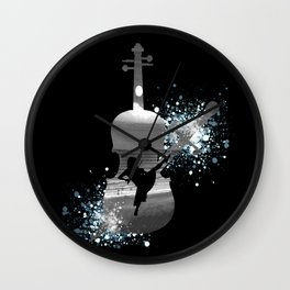 Let The Music Play - Black and White Wall Clock