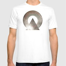 Stereo Induction White MEDIUM Mens Fitted Tee