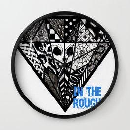 Diamond In The Rough Wall Clock