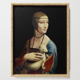 Leonardo da Vinci - The Lady with an Ermine Serving Tray