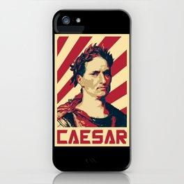 Julius Caesar Retro Propaganda iPhone Case