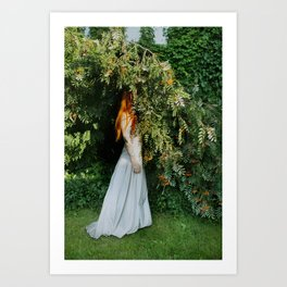 self portrait (marrying myself) Art Print