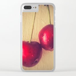 tangy cherries Clear iPhone Case