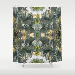 Leafy gray Shower Curtain