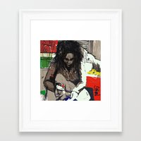 basquiat Framed Art Prints featuring Basquiat by Helen Syron