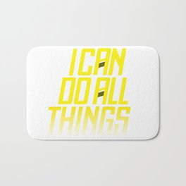 I CAN DO ALL THING  Steph Curry Bath Mat