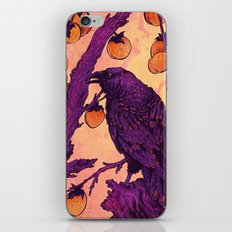 Raven and Persimmons iPhone Skin