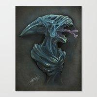 xenomorph Canvas Prints featuring Xenomorph by Jessica Jeansoulin Artworks (AngoriA)