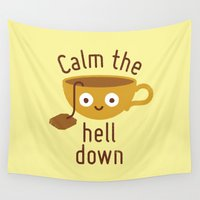 health Wall Tapestries featuring Anxietea by David Olenick