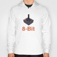8 bit Hoodies featuring 8-Bit by Cory Fitzpatrick