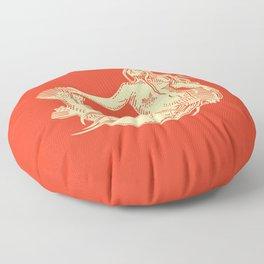Mermaid Selkie Fire on McGinnis No Words Version Floor Pillow
